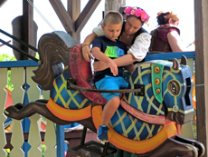Boy on Joust Ride